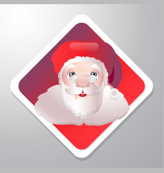 santa claus cartoon christmas holiday character vector image