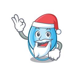 Santa oxygen mask mascot cartoon vector