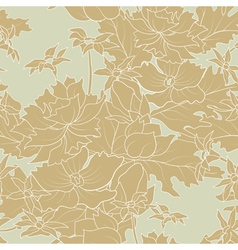 seamless a outline flowers and leafs vector image