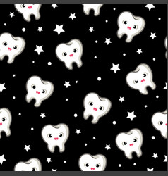 Seamless pattern with teeth vector
