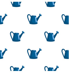 seamless pattern with watering can in flat style vector image