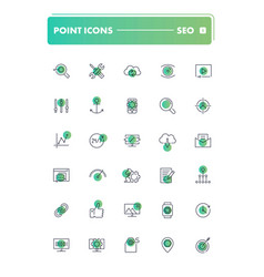 Set of 30 line icons seo and smm vector