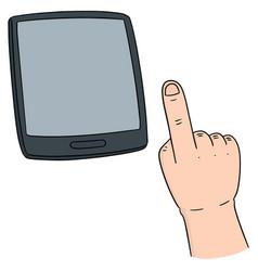set of hand using smartphone vector image