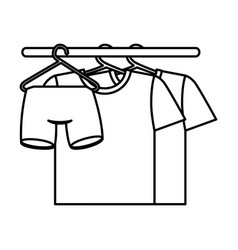 shirts hanging in the laundry vector image