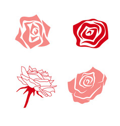 Simple rose set vector