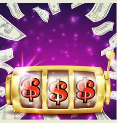 slot machine banner casino casino success vector image