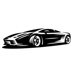 stylish sportcar element for design monochrome vector image