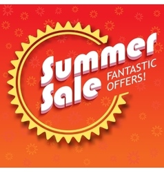 Summer sale advertisement vector