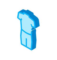 Swimming suit canoeing isometric icon vector