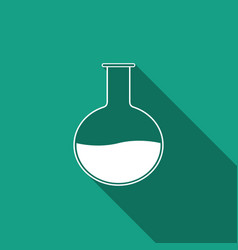 Test tube and flask chemical laboratory test icon vector