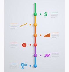 timeline infographics template vector image