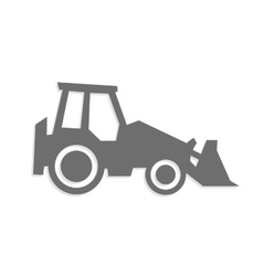 tractor icon and symbol vector image