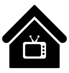TV Office Flat Icon vector