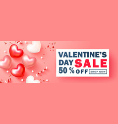 valentines day sale backgroundromantic vector image