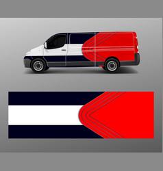 Vehicle decal wrap design cargo van graphic vector
