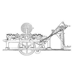 Web machine printing press vintage vector