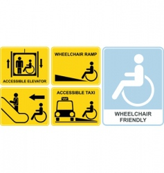 wheelchair sign vector image vector image