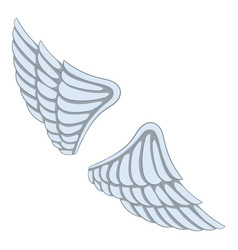 wings icon cartoon style vector image