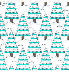 winter spruce seamless pattern fir forest in vector image