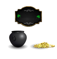 witches cauldron with potion isolated on white vector image