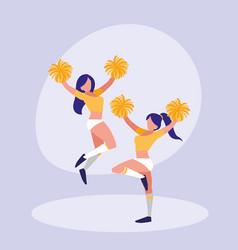 women cheerleader isolated icon vector image