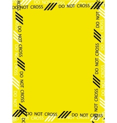 caution frame vector image vector image