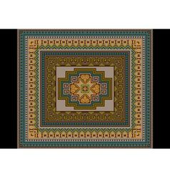 Classic pattern of the carpet in with soothing sha vector