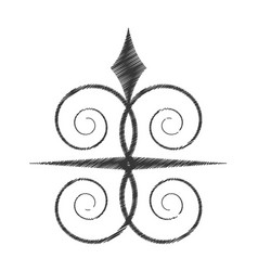 drawing swirl decorate ornate style vector image