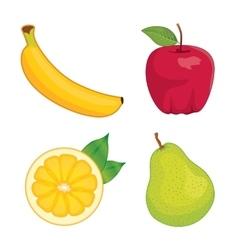 Glossy fruit set vector image