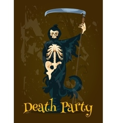 Halloween Death Party banner vector image vector image