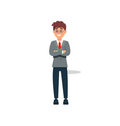 smiling businessman in formal clothes standing vector image vector image