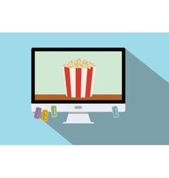 watching online movie vector image
