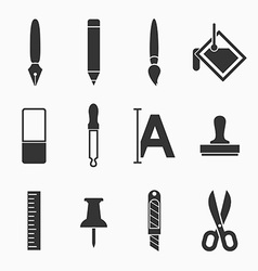 Art icons vector image