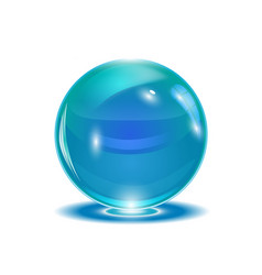 blue abstract sphere vector image
