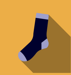flat design colorful socks icon on yellow vector image vector image