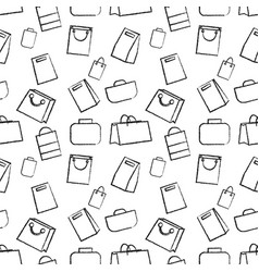 hand drawn doodle sketch seamless vector image vector image