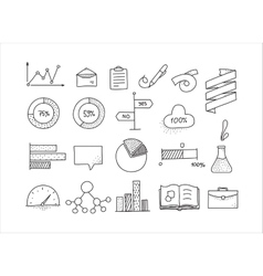 Hand drawn infographic design elements set Doodle vector image