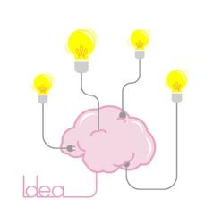 idea light bulb energy from brain vector image