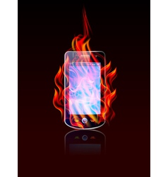 mobile burn vector image vector image