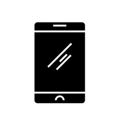 mobile tablet icon black vector image