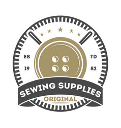 sewing supplies isolated store label vector image vector image