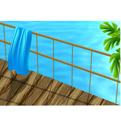 beach towel and sea vector image