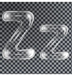 Bubbles letters Z vector image vector image