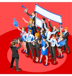 Election News Infographic Party Rally Isometric vector image