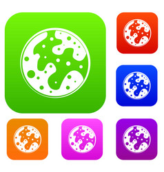 mars set color collection vector image