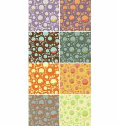 seamless circles pattern set vector image vector image