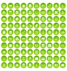 100 calculator icons set green circle vector