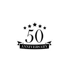 50 anniversary sign element of anniversary sign vector image