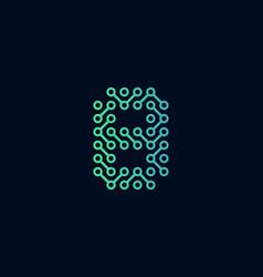 8 circuit technology letter logo icon design vector
