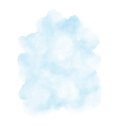 abstract light blue watercolor stain shape vector image